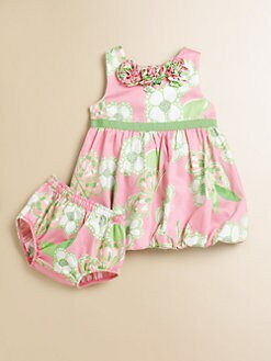 Lilly Pulitzer Kids - Infant's Britta Baby Bubble Dress & Bloomers Set