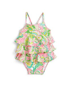 Lilly Pulitzer Kids - Infant's Cindy Lou Ruffled One-Piece Swimsuit
