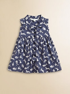 Marie Chantal - Infant's Rabbit Print Shirt Dress & Bloomers Set