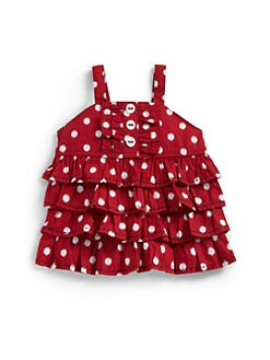 Hartstrings - Infant's Dotted Ruffle Tank Top