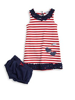 Hartstrings - Infant's Striped Ruffle Dress