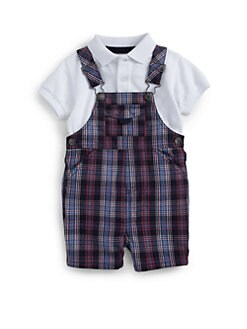Hartstrings - Infant's Plaid Coveralls
