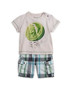 Diesel - Infant's Lime Straw Tee