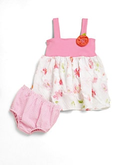 Love U Lots - Infant's Two-Piece Patchwork Tunic & Bloomers Set