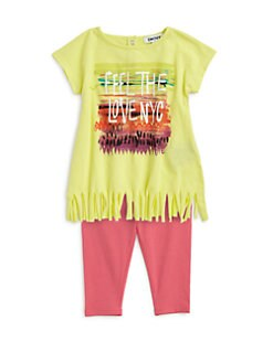 DKNY - Infant's Two-Piece Love NYC Fringe Tunic & Leggings Set