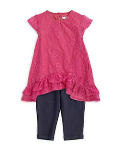 DKNY - Infant's Two-Piece Bocca Lace Tunic & Leggings Set