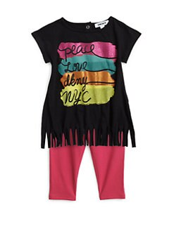 DKNY - Infant's Two-Piece Peace Love Fringe Tunic & Leggings Set