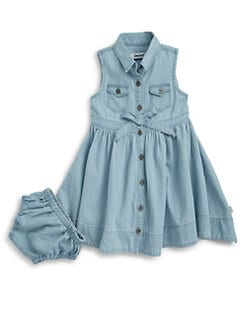 DKNY - Infant's Tilly Denim Dress & Bloomers Set