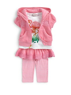 Juicy Couture - Infant's Two-Piece Hoodie & Skirted Leggings Set