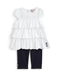 Juicy Couture - Infant's Two-Piece Ruffled Tunic & Leggings Set