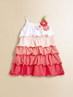 Love U Lots - Infant's Multicolor Ruffle Dress