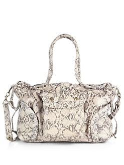 Not Rational - Kelly Snake-Embossed Leather Baby Bag