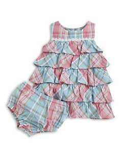 Hartstrings - Infant's Plaid Sundress & Bloomers Set
