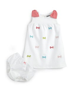 Hartstrings - Infant's Ponte Bow Dress & Bloomers Set
