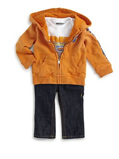 True Religion - Infant's Three-Piece Puff Hoodie, Bodysuit & Baby Jack Jeans Set
