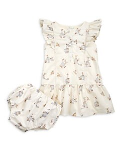 Marie Chantal - Infant's Bird Cage Dress & Rompers Set