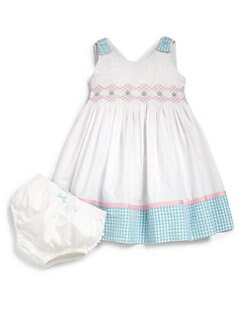 Hartstrings - Infant's Two-Piece Smocked Dress & Bloomers Set