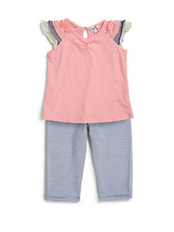 Splendid - Infant's Mixed-Print Tee & Leggings Set