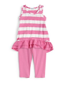 Splendid - Infant's Two-Piece Striped Tank Tunic & Leggings Set