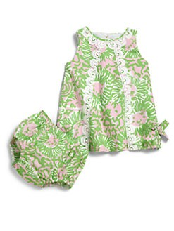 Lilly Pulitzer Kids - Infant's Two-Piece Lion Print Shift Dress & Bloomers Set