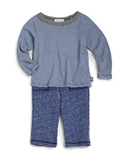 Splendid - Infant's Stripe Top & Confetti Terry Pants Set