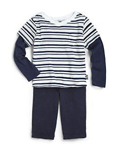 Splendid - Infant's Layered-Look  Vintage Stripe Top & Pants Set