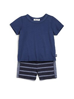 Splendid - Infant's Tee & Stripe Shorts Set