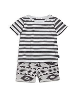 Splendid - Infant's Stripe Tee & Printed Shorts Set