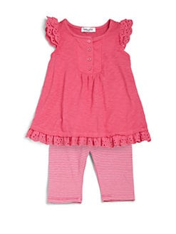 Splendid - Infant's Eyelet-Trimmed Tunic & Leggings Set