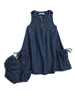 DKNY - Infant's Reef Denim Dress & Bloomers Set