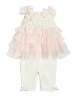 Miniclasix - Infant's Two-Piece Tiered Top & Leggings Set