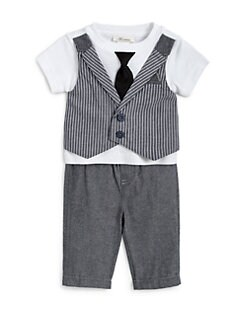 Miniclasix - Infant's Two-Piece Vest Tee & Woven Pants Set