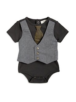 Miniclasix - Infant's Layered-Look Vest Bodysuit