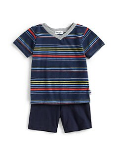 Splendid - Infant's Two-Piece Gladiator Striped Tee & Shorts Set