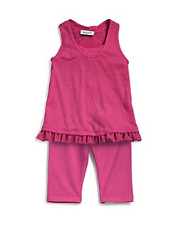 Splendid - Infant's Chiffon-Trim Tank & Leggings Set