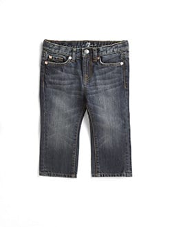 7 For All Mankind - Infant's Faded-Denim Jeans