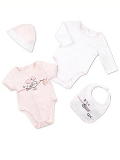 Gucci - Infant's Cotton Four-Piece Baby Girl Gift Set