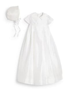 Isabel Garreton - Infant's Silk Christening Gown & Bonnet Set