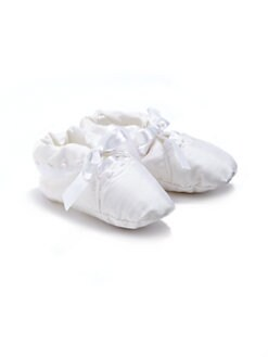 Isabel Garreton - Infant's Silk Embroidered Christening Booties