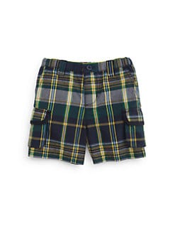 Hartstrings - Infant's Plaid Cargo Shorts