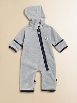 Moncler - Infant's Velour Playsuit