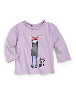 Little Marc Jacobs - Infant's Miss Marc & Dog Tee