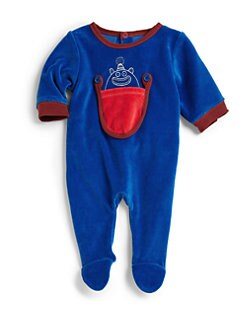Little Marc Jacobs - Infant's Monster In A Pocket Velour Footie