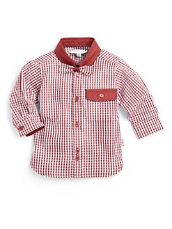 Little Marc Jacobs - Infant's Gingham Snap Bow Tie Shirt