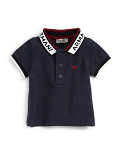 Armani Junior - Infant's Logo Collar Polo Shhirt