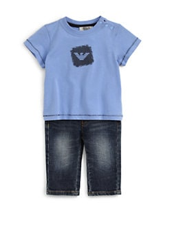 Armani Junior - Infant's Cotton Eagle Tee