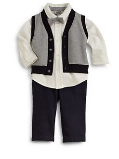Armani Junior - Infant's Three-Piece Shirt, Pants & Vest Set
