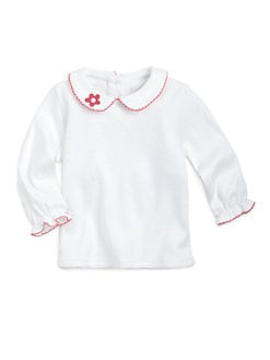 Florence Eiseman - Infant's Embroidered Knit Blouse