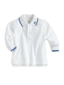 Florence Eiseman - Infant's Color-Tipped Long-Sleeve Polo