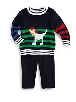 Florence Eiseman - Infant's Striped Doggie Sweater